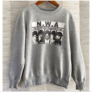 Other - N.W.A Heather Grey Pullover Sweatshirt Sweater